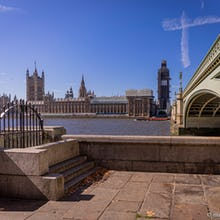 Popular photography spot next to the Westminster Bridge