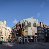 Empty Piccadilly Circus in the morning