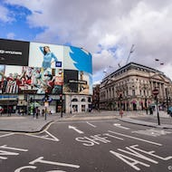Piccadilly Circus and the new big screen