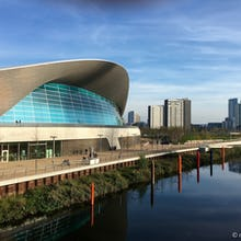 London Aquatics Centre in the olympic park