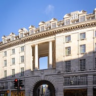 An entrance to Soho from Regent Street