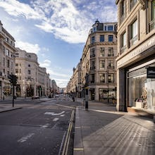 A reflection on an almost empty Regent Street