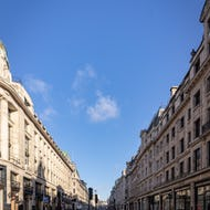Empty Regent Street early in the morning