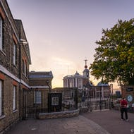 The Greenwich Mean Time Meridian Line is just behind the gates