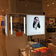 Beauty products at Selfridges