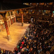 Globe theatre performance about to start