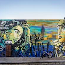 Beautiful mural advertising Canada Goose