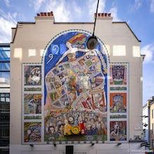 Spirit of Soho mural next to Carnaby Street