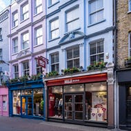 Carnaby Street has many fashion stores