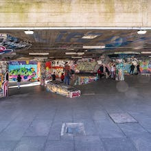 Skaters in Southbank Skate Space