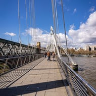 Bridge from Southbank Centre to Charing Cross