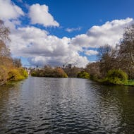 London Eye is visible from St James's Park