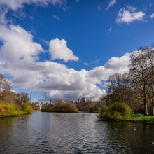 The bridges in St James's Park are great photo locations