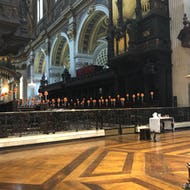 Inside view of St Paul's Cathedral