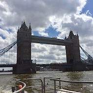 A view of Tower Bridge from Thames Clipper