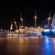 The O2 at night time