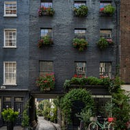 Entrance to a lovely mews in Fitzrovia