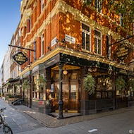 The Fitzroy Tavern is perhaps the most well-known pub in Fitzrovia with a long history of famous guests