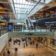 Inside view of Westfield, Stratford City